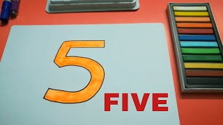 HOW TO DRAW FIVE FOR KIDS STEP BY STEP l DRAWING FIVE EASY