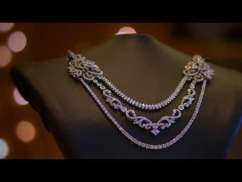 77ff037571eb0 LATEST EMERALDS DIAMOND NECKLACE FOR WOMEN, DUBAI ROYAL JEWELLERY ...