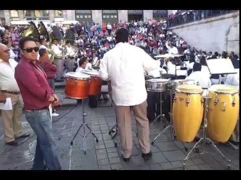Open air concert at Plaza Goytia, Zacatecas Mexico