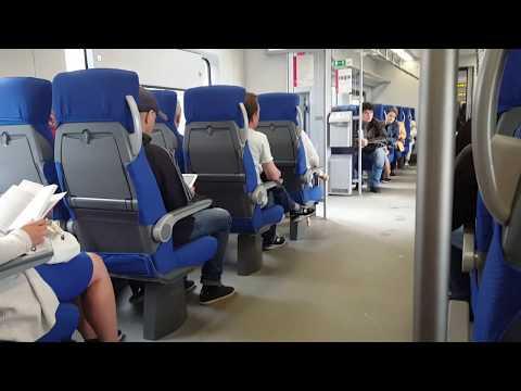 поездка на двух вагонах электропоезда ЭР9м без кабины управления
