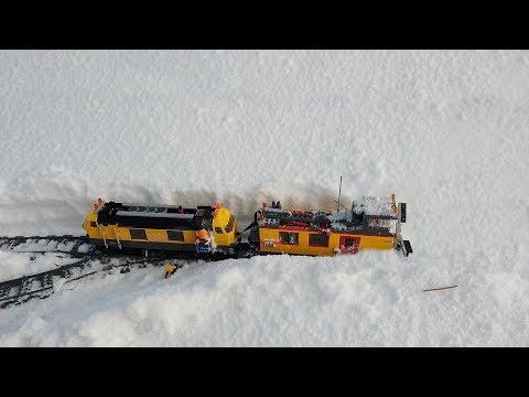 WORKING Lego Train Snow Plow
