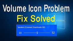 How to fix volume icons problem on windows 10