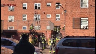 FDNY Responds to 3rd Floor Fire in East Harlem, NYC (2018)