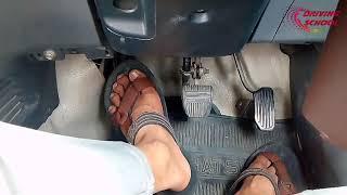 Cara pijakan pada pedal agar rem nyaman & gas aman