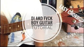 Di Ako Fuck boy - Jroa (Guitar chords tutorial)