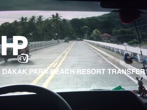 Dakak Park Beach Resort Van Transfer from Dipolog Airport Za