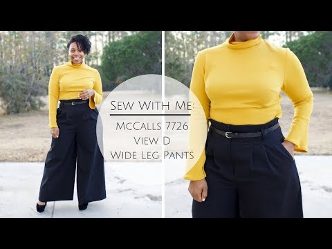 SEW WITH ME: MCCALLS 7726 VIEW D : WIDE LEG PANT