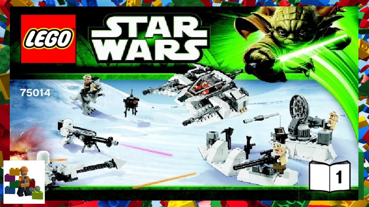 Lego Instructions Assault On Hoth One Word Quickstart Guide Book 75098 Star Wars 75014 Battle Of 1 Rh Youtube Com