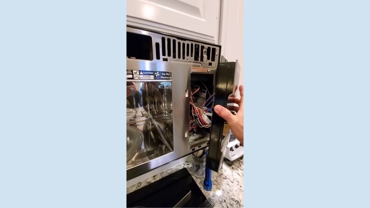 how to replace ge profile microwave oven pvm1790sr1ss main board