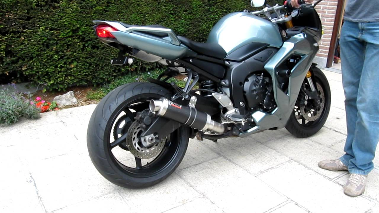 Tilting Motor Works >> yamaha FZ1 exhaust mivv gp carbon soundtrack - YouTube
