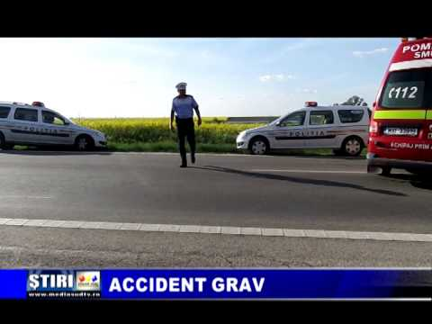 Accident grav pe E 70 la iesirea din Alexandria