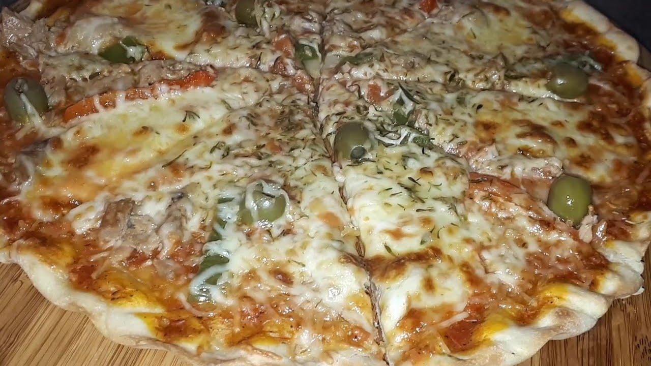 pizza maison facile طريقة البيتزا سهلة وسريعة