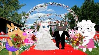 Wedding Talking Tom et Angela, Black Cat volé Angela Cartoon Animation pour les enfants