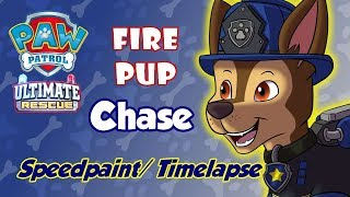 Paw Patrol Ultimate Rescue: Fire Pup - Chase (Speedpaint/ Timelapse)