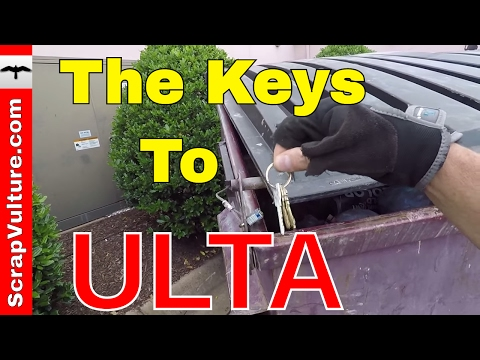 Found The Keys To ULTA Beauty & Makeup while Dumpster Diving! Scrap Metal Scrapping Dumpster Diver