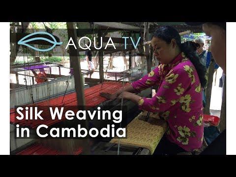 Silk Weaving at Koh Oknha Tey village, Cambodia - Aqua Mekong Luxury River Cruise