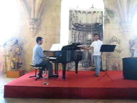Countertenor singing Ave Maria in a Batalha Church in Portugal