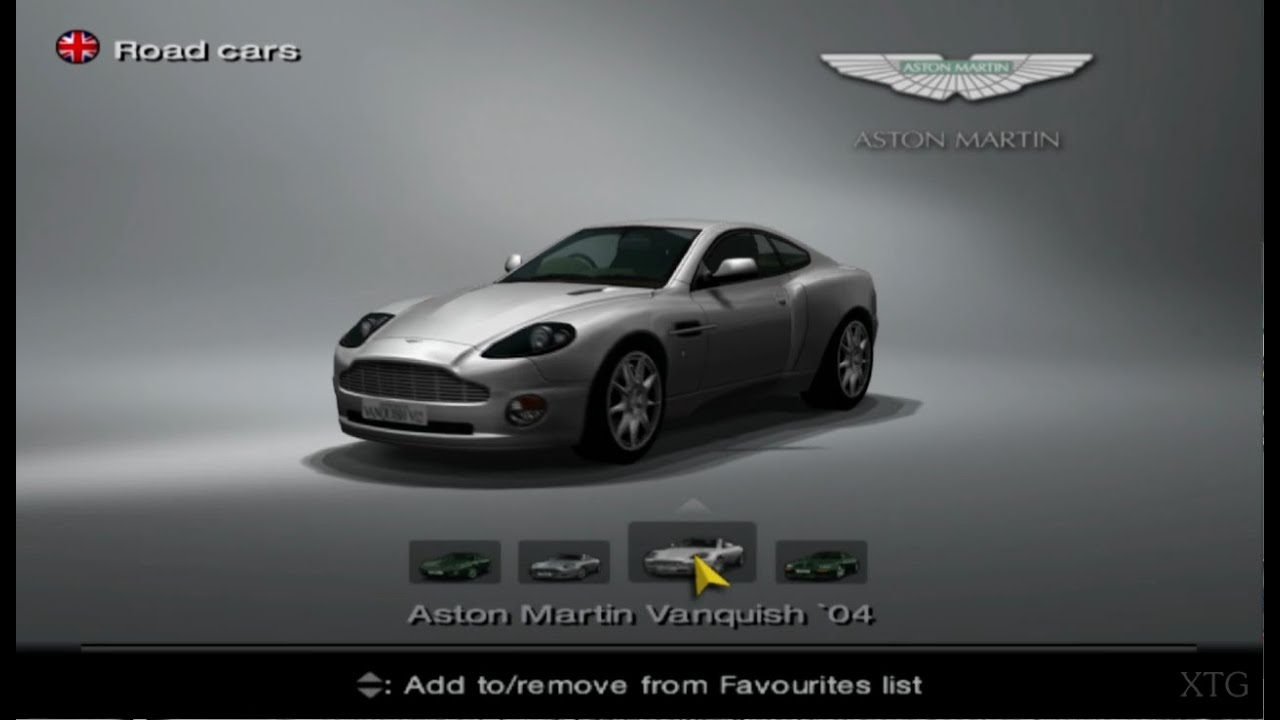 gran turismo 4 aston martin car list hd ps2 gameplay youtube. Black Bedroom Furniture Sets. Home Design Ideas
