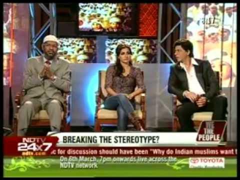 3.Dr. Zakir Naik, Shahrukh Khan, Soha Ali Khan on NDTV with Barkha Dutt