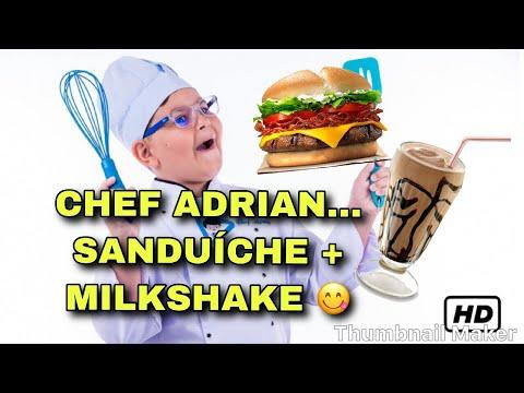 CHEF ADRIAN - SANDUÍCHE + MILKSHAKE DE CHOCOLATE