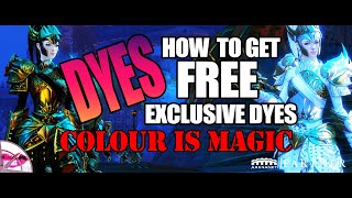 Guild Wars 2 | Fashion Wars Colour Mash Up and How to Unlock Free Exclusive Dyes