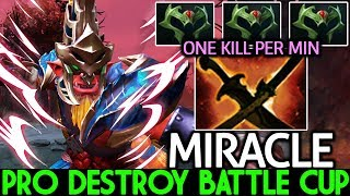 Miracle- [Troll Warlord] Pro Destroy Battle Cup One Kill Per Min 7.21 Dota 2