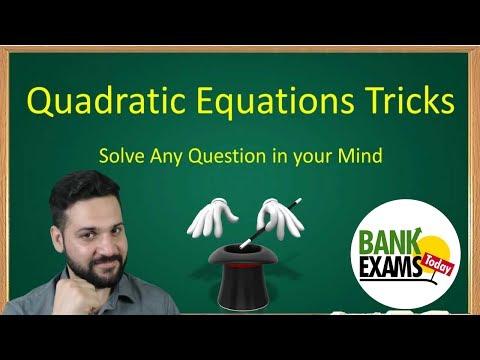 Quadratic Equations Tricks by Ramandeep Singh
