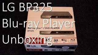 lG BP325 3D Slim Compact Smart Blu-ray Player - Unboxing review