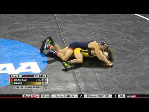 2016 NCAA Wrestling 133lbs George DiCamillo vs Dalton Brady