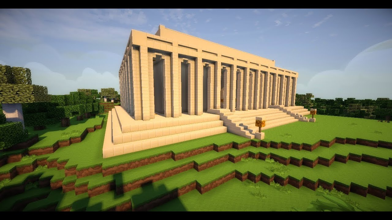 Minecraft Timelapse Lincoln Memorial Youtube