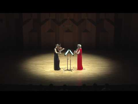 Retorica (Harriet Mackenzie, Philippa Mo - violins) Bach Invention no. 10, Seoul Arts Centre Encore