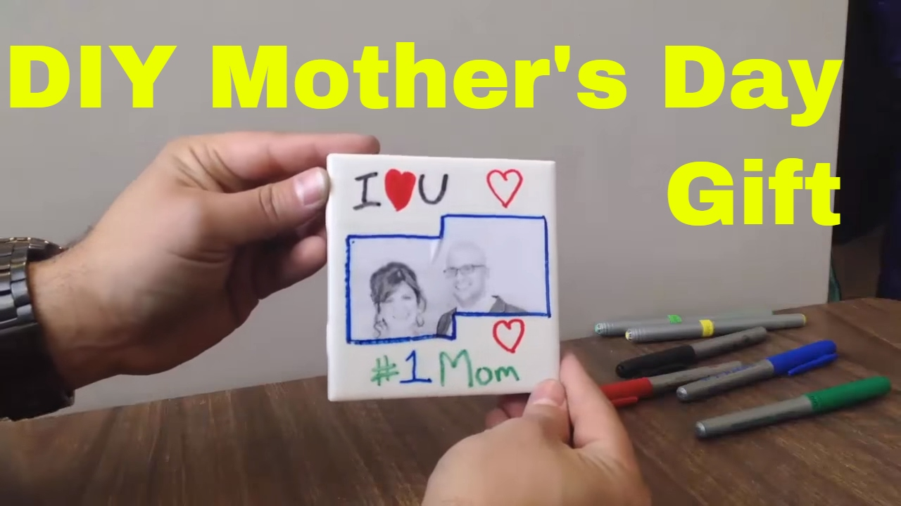 Easy Diy Mother S Day Gift Homemade Coaster With Tile And Cork Youtube
