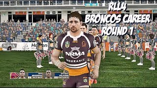 Rugby League Live 4 - Broncos Career 2018 (Round 1)
