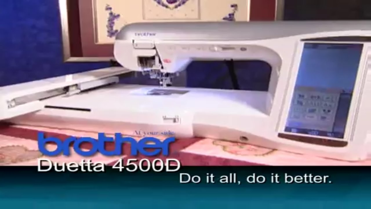 Brother Duetta 4500D Sewing, Embroidery, & Quilting Machine ... : embroidery quilting sewing machine - Adamdwight.com