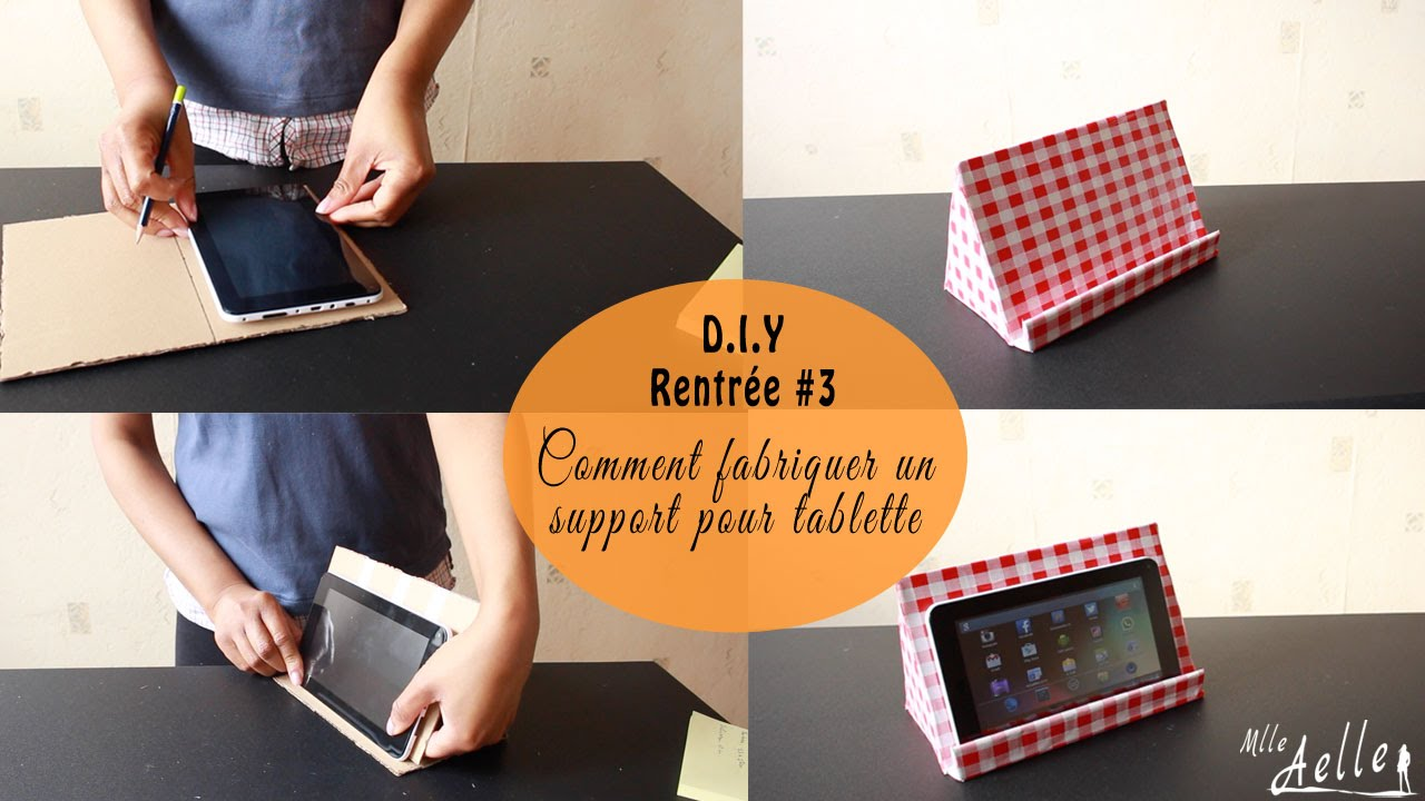diy rentr e 3 fabriquer un support pour tablette youtube. Black Bedroom Furniture Sets. Home Design Ideas