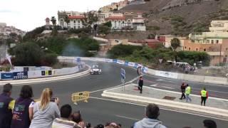 Accidente tramo espectáculo - Rally islas Canarias 2017