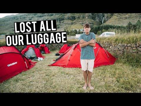 Camping in ICELAND and LOST all our LUGGAGE!