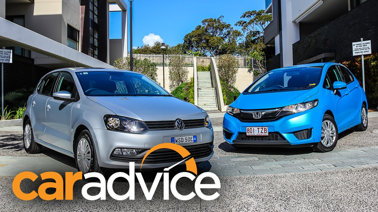 honda jazz v volkswagen polo comparison review - youtube