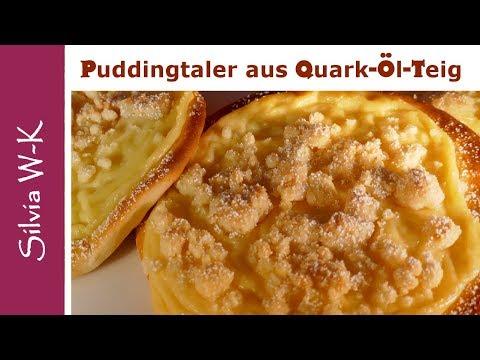 Puddingtaler - mit Quark-Öl-Teig - Puddingteilchen - lecker