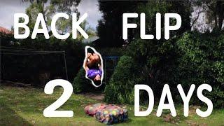 My Backflip Progression in 2 Days