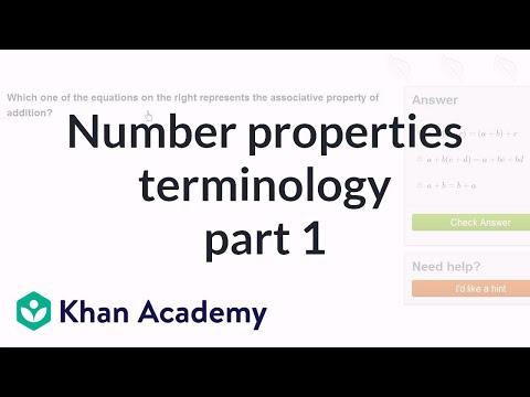 Number properties terminology 1 | Arithmetic properties | Pre-Algebra | Khan Academy