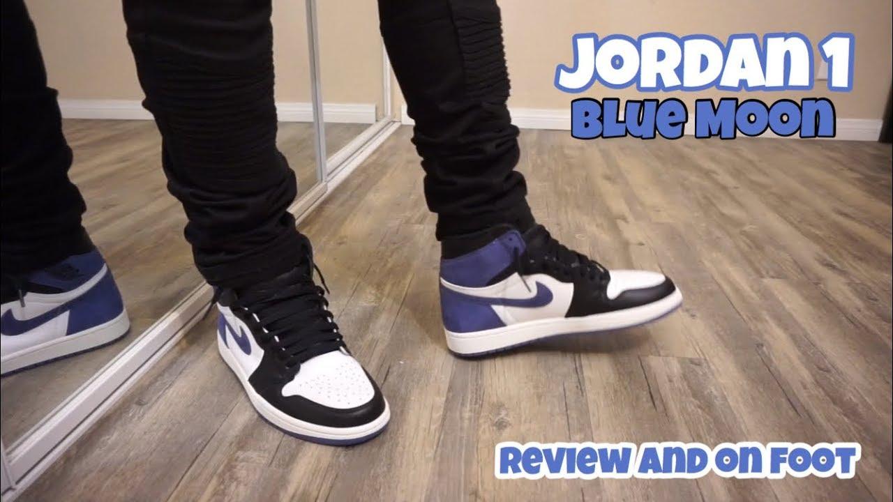0dee5301a4c0 Jordan 1 Blue Moon Review + On Feet - YouTube