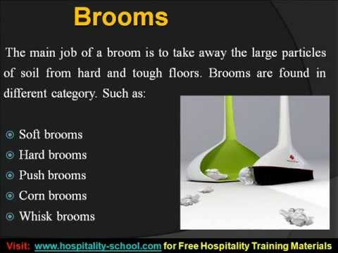 Hotel Cleaning Equipments Training Tutorial