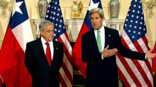 Secretary Kerry Delivers Remarks With Chilean President Pinera
