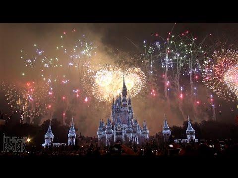 Fantasy in the Sky Fireworks New Year's Fireworks Show Magic Kingdom Walt Disney World 2016