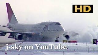 [HD] Beautiful Landing in snow (Version 2) - 美しい雪の新千歳空港着陸シーン集