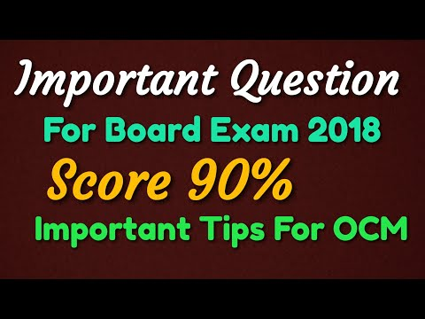 Important question of OCM for Board Exam 2018