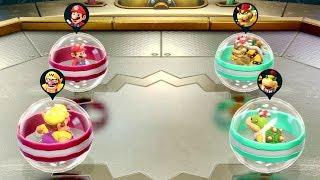 Super Mario Party Minigames - Mario vs Bowser vs Wario vs Bowser Jr