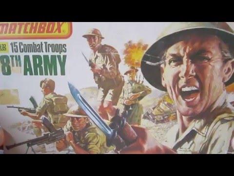 Matchbox 1:32 8th Army ww2 Unpainted.