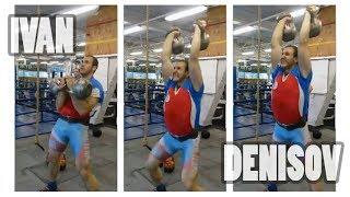 Ivan Denisov | 2 X 40 kg kettlebells jerk - 57 reps in 3 minutes (2015)
